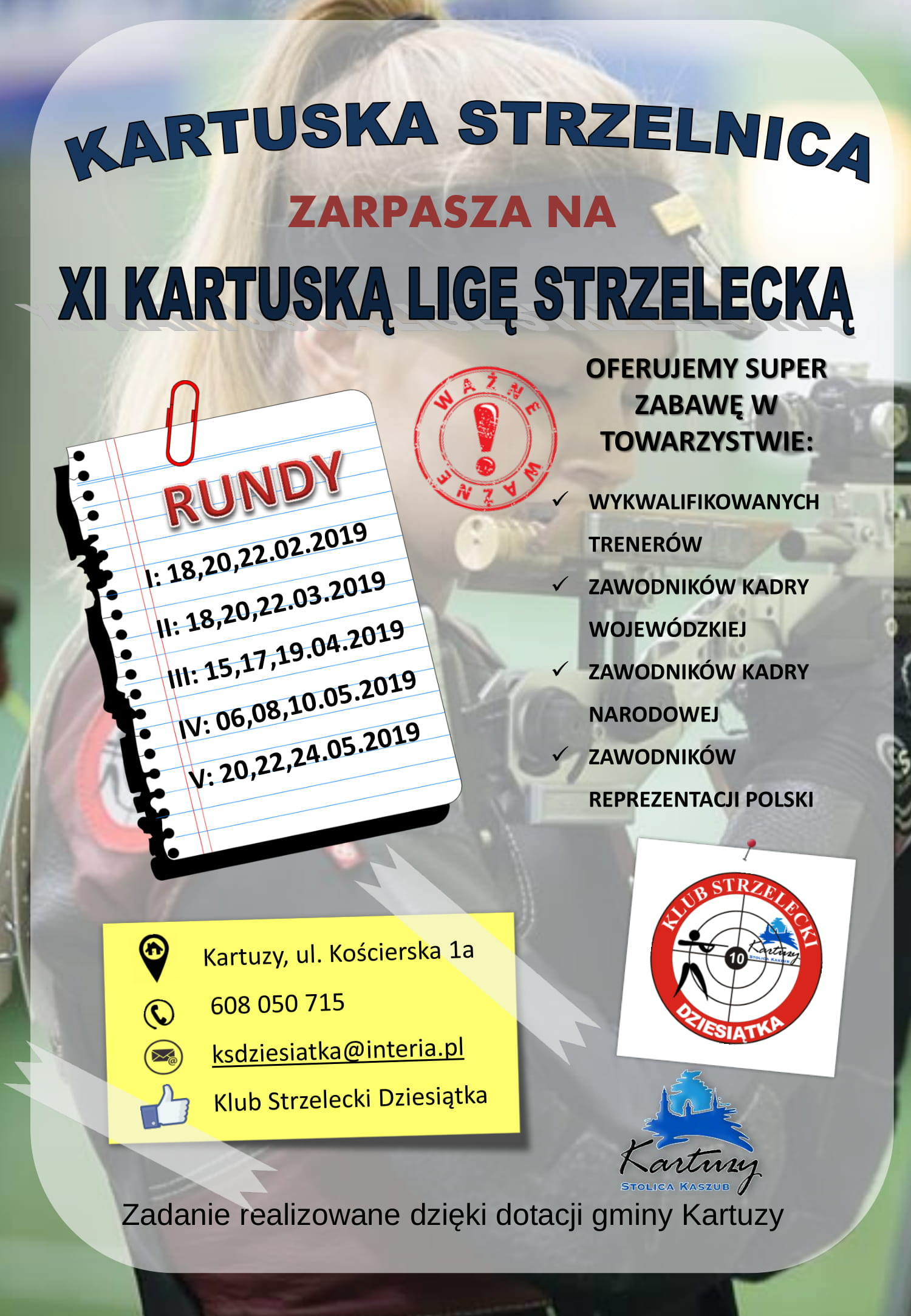 V runda XI Kartuskiej Ligi Strzeleckiej