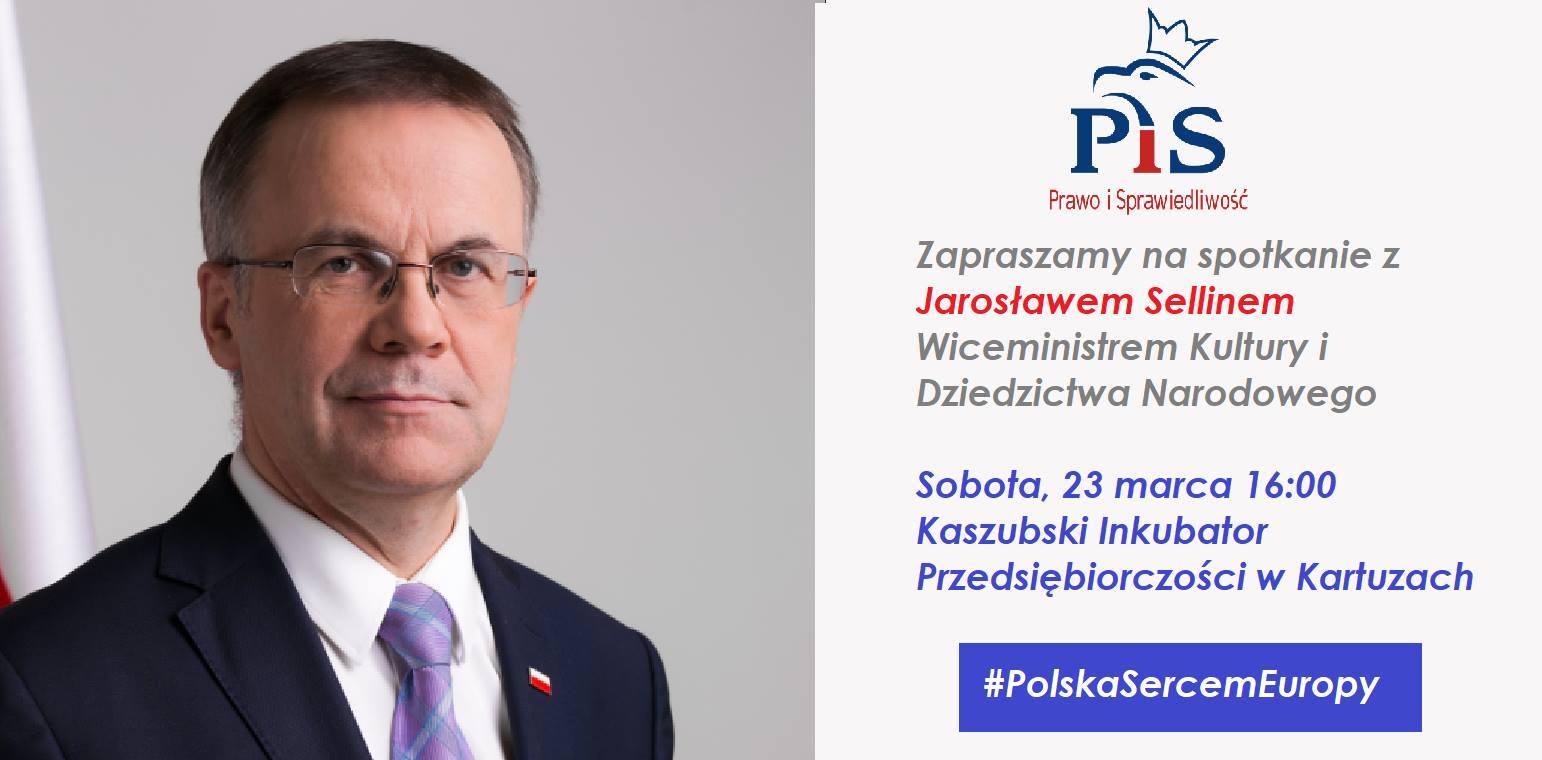 Jarosław Sellin w Kartuzach - spotkanie