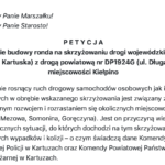 Powstanie rondo w Kiełpinie? Coraz więcej podpisów pod petycją