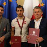 Srebrny medalista Gevorga Sahakyan na spotkaniu z Ministrem Sportu