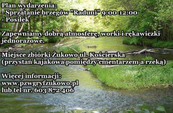 """Wielkie sprzątanie rzeki """"Raduni"""""""