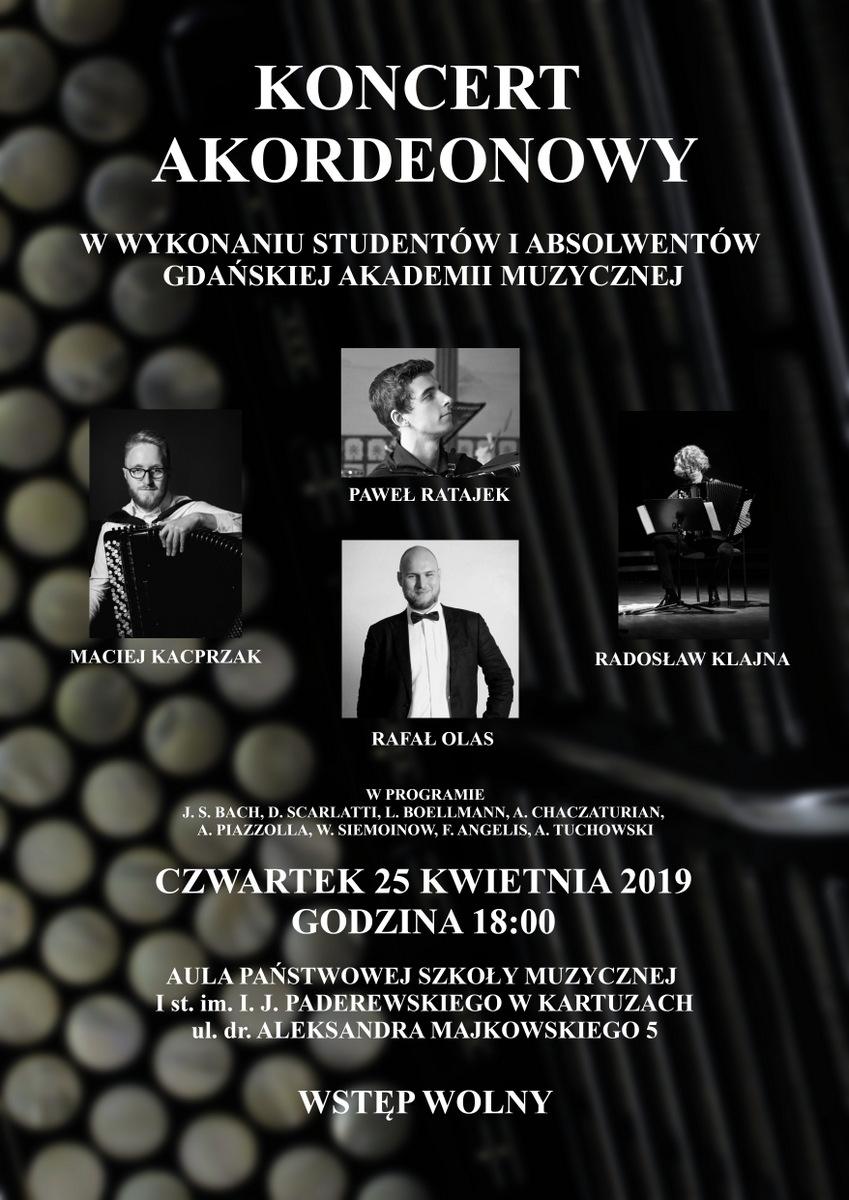 Koncert Akordeonowy w PSM Kartuzy