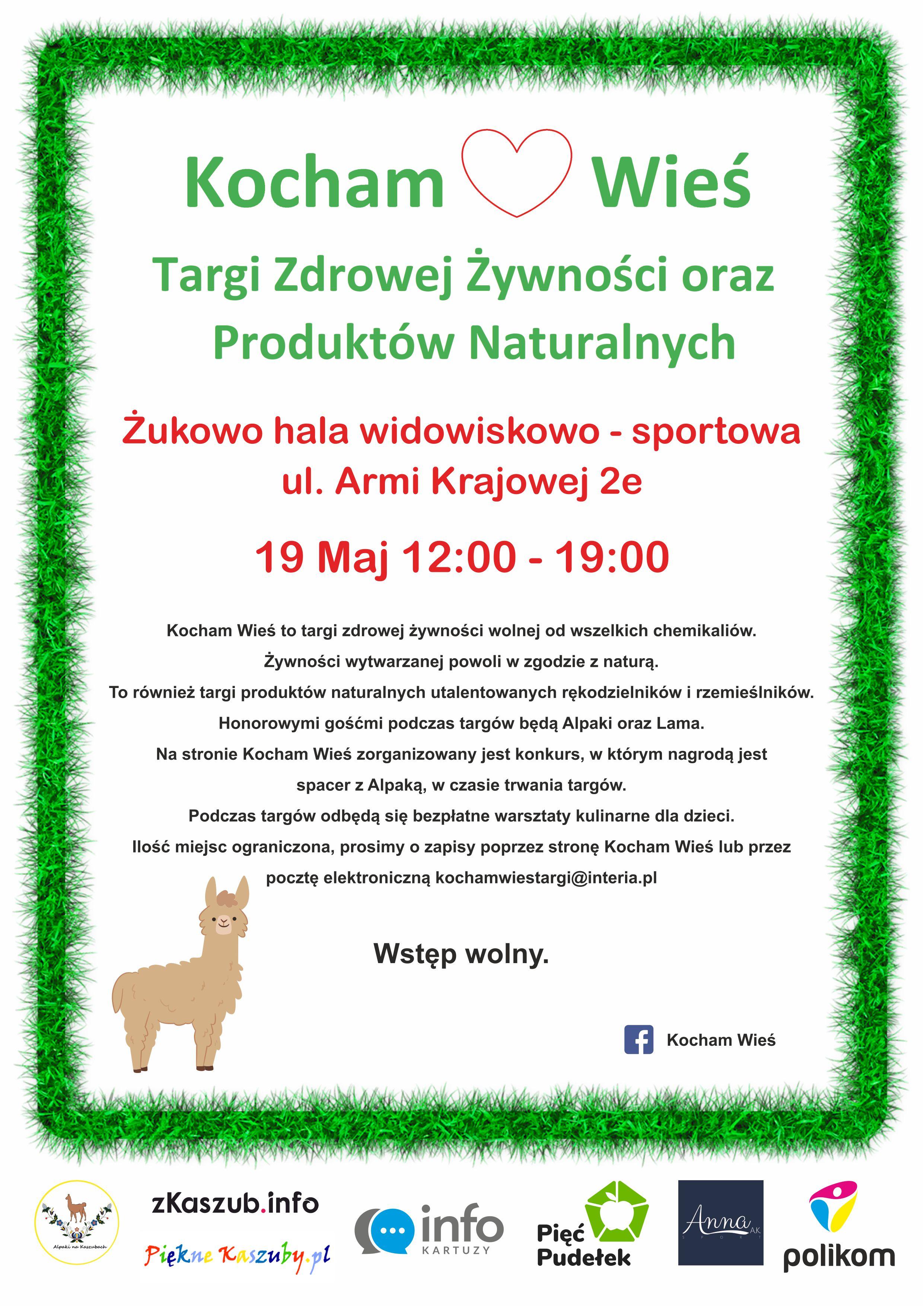 Kocham Wieś - Targi Zdrowej Żywności oraz Produktów Naturalnych w Żukowie