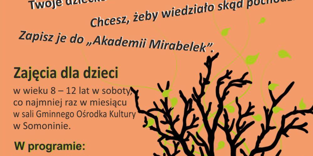 """Biblioteka w Somoninie rusza z projektem """"Akademia Mirabelek""""! Zgłoś swoje dziecko"""