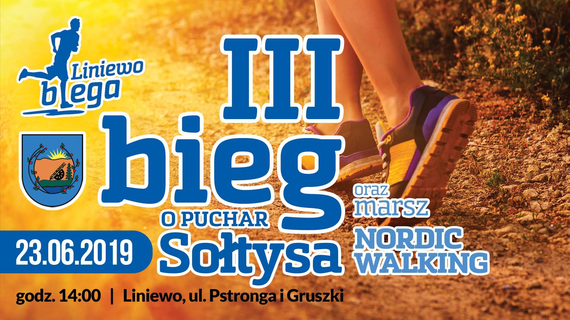 3. Bieg o Puchar Sołtysa i Marsz Nordic Walking - Liniewo