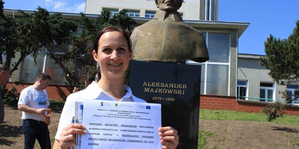 Pomnik Aleksandra Majkowskiego w Kartuzach przechodzi metamorfozę! [ZDJĘCIA]