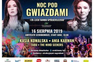 Noc pod Gwiazdami 2019! W Sierakowicach wystąpią m.in. Kasia Kowalska i Tabu [ZAPOWIEDŹ]