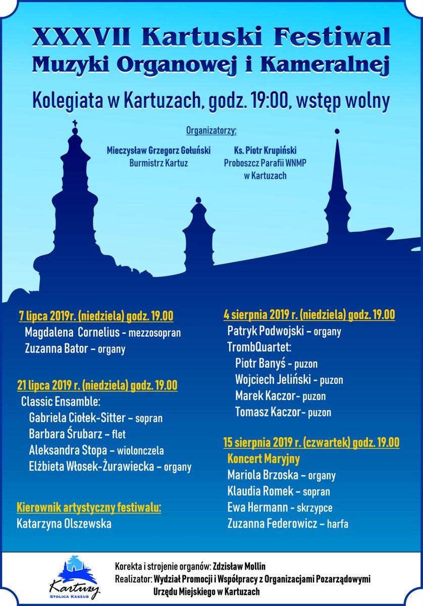 37. Kartuski Festiwal Muzyki Organowej i Kameralnej