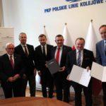 """Podpisanie porozumienia pomiędzy Województwem Pomorskim, PKM i PKP PLK w sprawie """"bajpasa kartuskiego"""""""