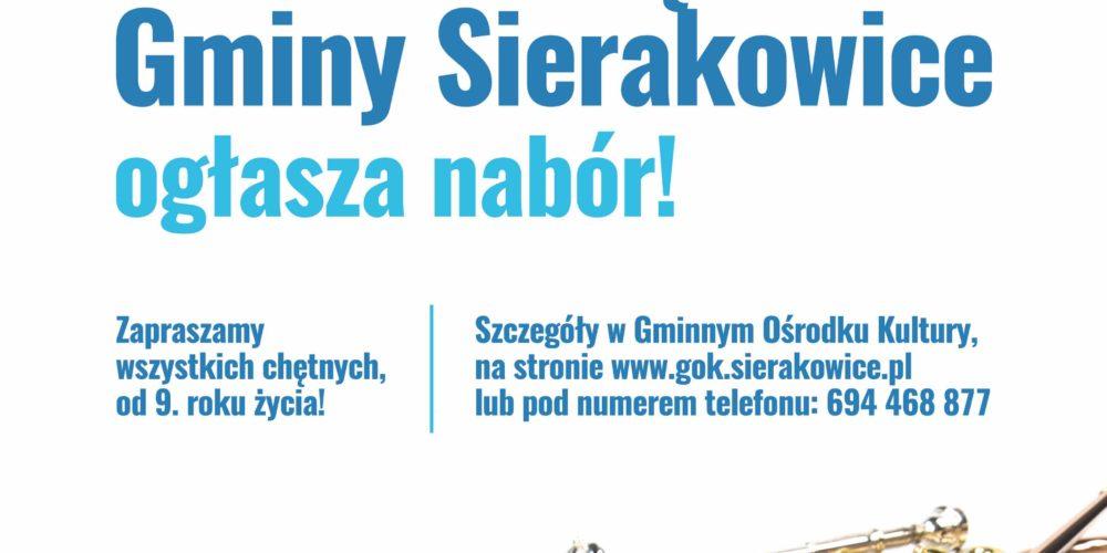 Młodzieżowa Orkiestra Dęta w Sierakowicach ogłasza nabór!