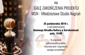 Gala zakończenia projektu MSN – Sierakowice 2019