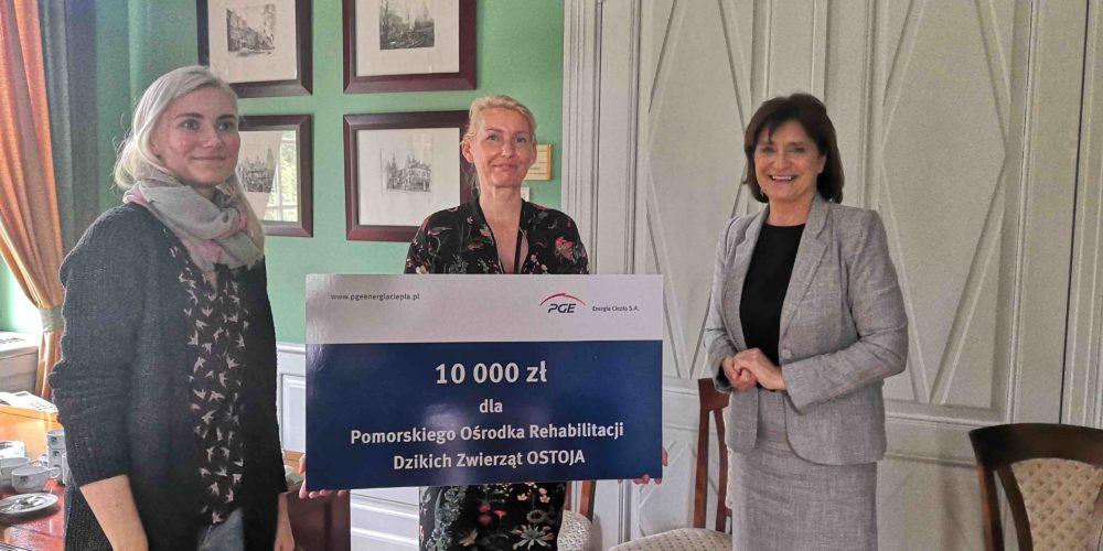 10 000 zł dla Pomorskiego Ośrodka Rehabilitacji Dzikich Zwierząt OSTOJA od PGE Energia Ciepła