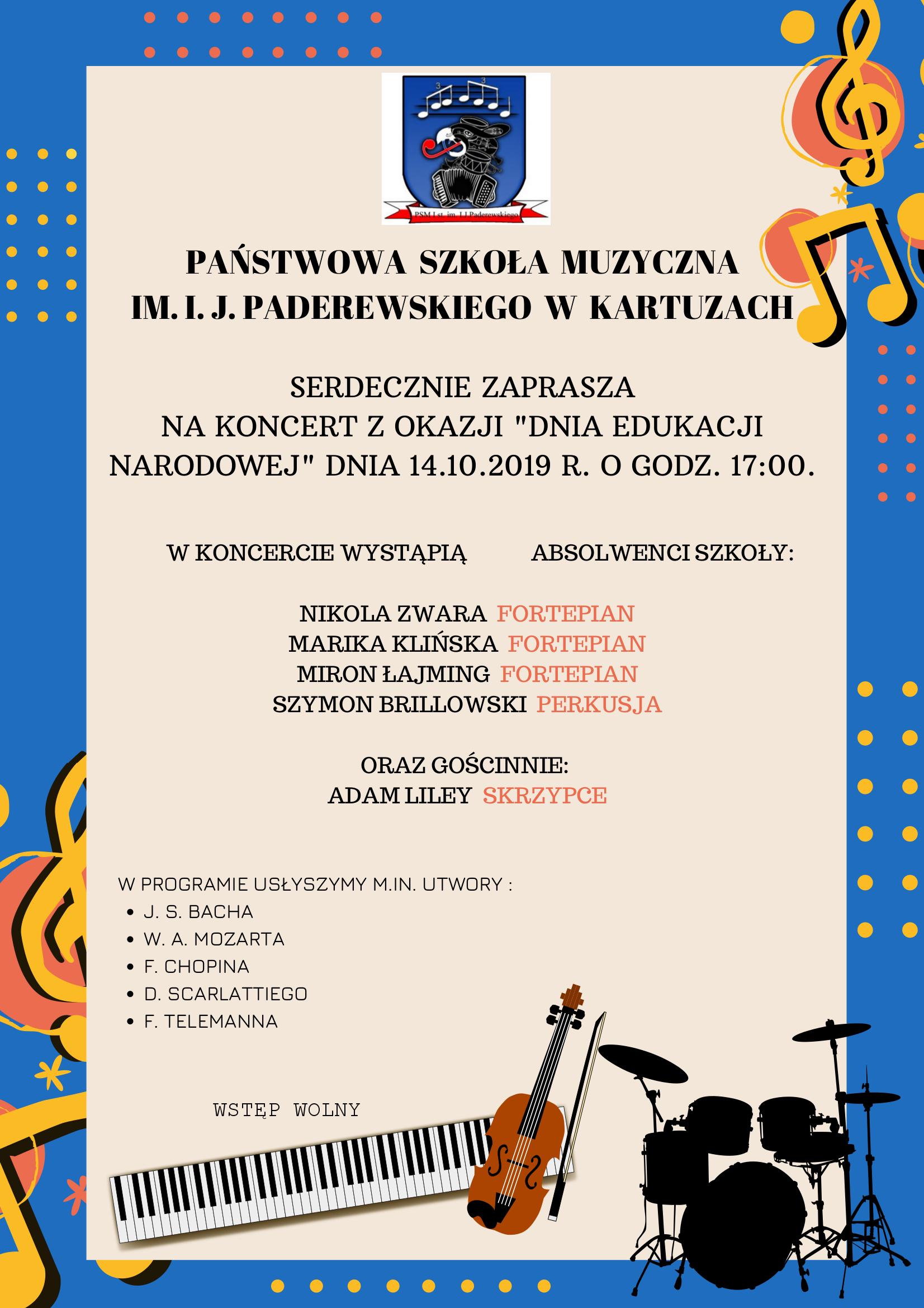 Koncert na Dzień Edukacji Narodowej - Kartuzy