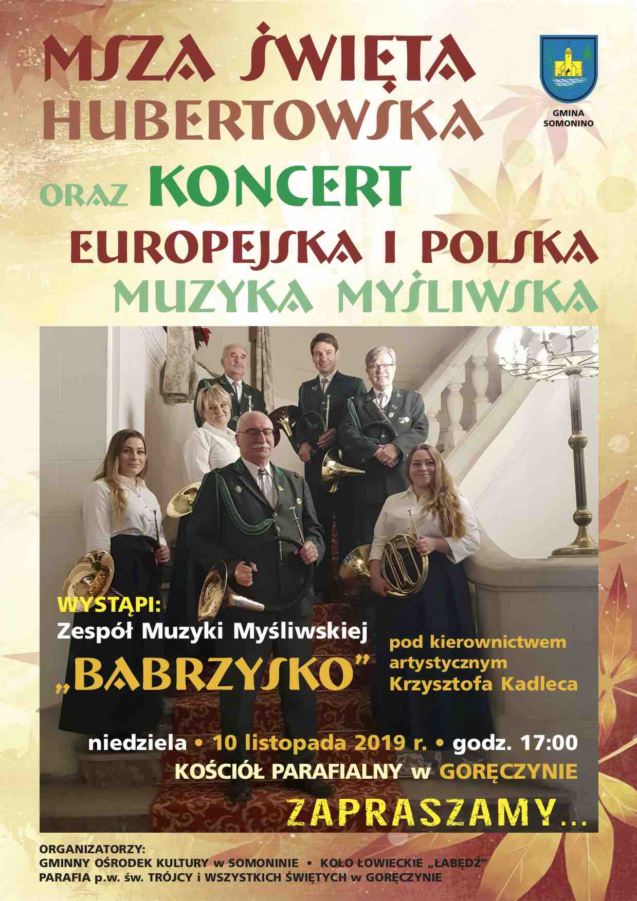 Msza Święta Hubertowska i koncert - Gmina Somonino