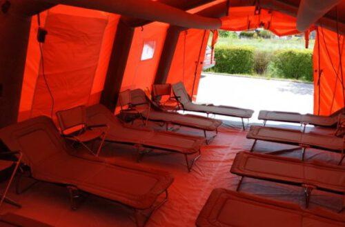 Nowy namiot dla strażaków