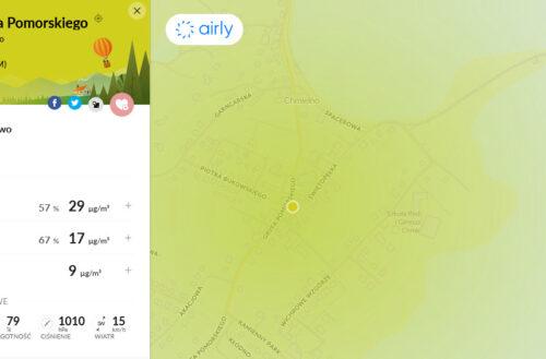 Czujnik jakości powietrza w Gminie Chmielno