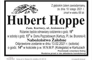 Zmarł Hubert Hoppe (nekrolog)