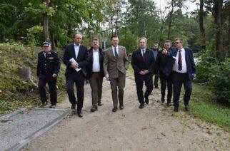 Sulęczyno. M.Struk, S. Lamczyk i B. Obajtek z wizytą u wójta B. Gruczy. Zobacz zdjęcia!