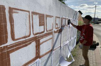 Somonino. Na przystanku autobusowym powstaje mural. Poznaj autora!